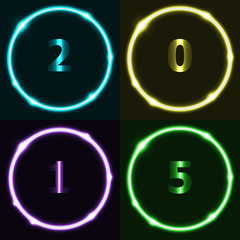 Colorful circle effect with 2015