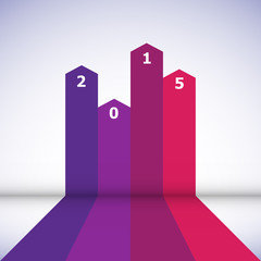 Abstract design banner with 2015