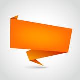 Fototapety orange blank origami