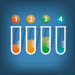 Lab tube.Colorful vector design