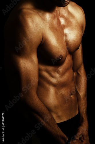 canvas print picture muscle shape
