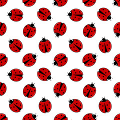 Ladybirds seamless pattern