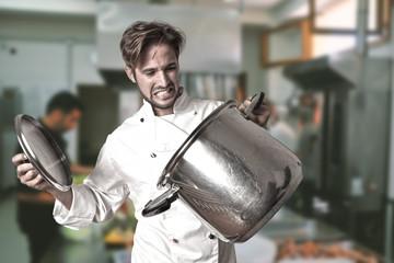 Chef cook.Kitchen backgorund