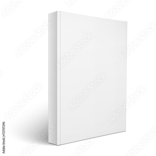 Blank vertical softcover book template. - 72707296