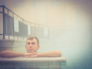 Handsome man in spa