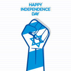 Independence Day of Israel, Flag of Israel hand design vector
