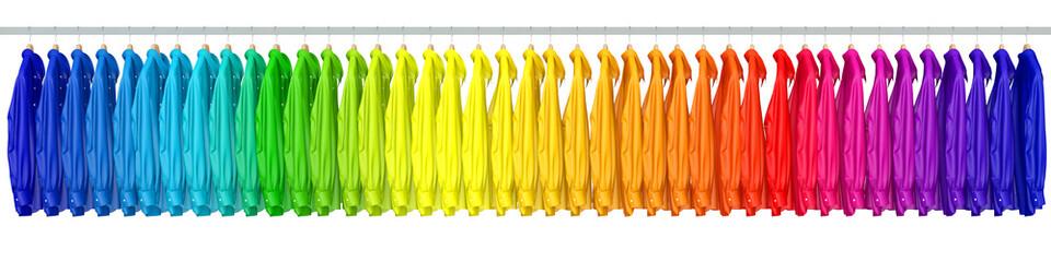 Hemden in den Farben vom Regenbogen