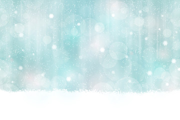 Winter bokeh background seamless horizontally