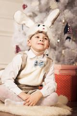 boy in New Year costumesv