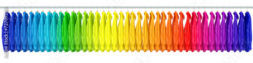 canvas print picture Hemden in den Farben vom Regenbogen