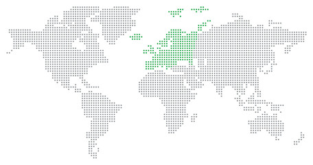 Dotted World Map - Europe