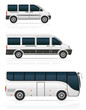 large and small buses for passenger transport vector illustratio - 72709652