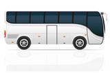 big tour bus vector illustration