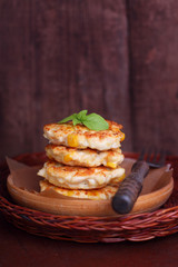 pancakes with chicken and corn