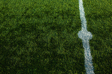 Soccery pitch - well cut grass of a soccer field