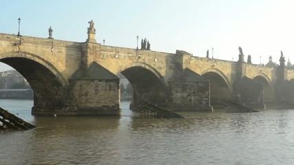 Charles bridge - Prague, Czech Republic - city - river Vltava