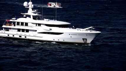 Luxury private yacht sailing