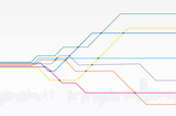 Fototapety Colorful map of subway lines