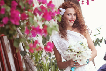 bride flowers wedding bouquet