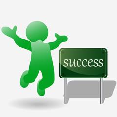 Человечек-радостный-Успех(success)