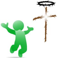 Крест-порсещающий-человека