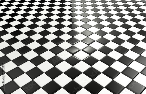 Black and white tiles background