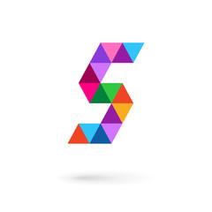 Letter S mosaic logo icon design template elements
