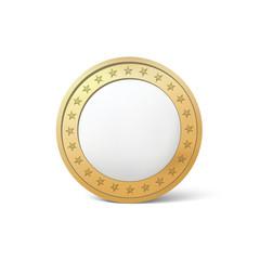 Gold silver coin icon vector