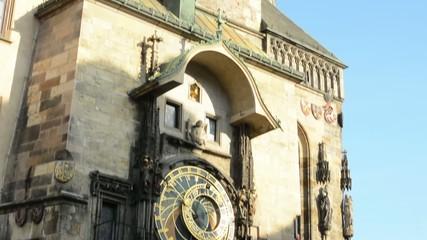 Tower and Astronomical Clock: Clock - Prague, Czech Republic