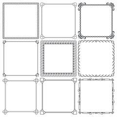 Vector decorative frames