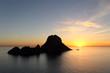 Leinwanddruck Bild - Sunset on Es Vedra in Ibiza island