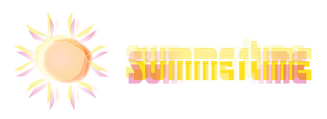 sunshine graphic and summertime text