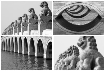 repetition art collage, images from Beijing