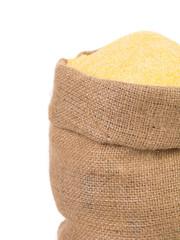 Sack with corn flour.