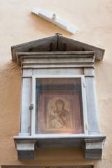 Dipinto della Madonna e Ges bambino, fede