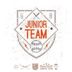 Emblem baseball junior college team