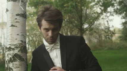 Handsome bridegroom