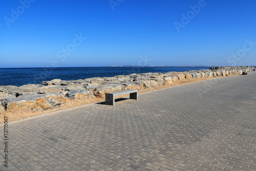 Fotobehang Algerije Promenade des Sablettes à Alger