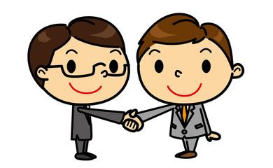 SDビジネスマン 握手