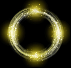 Glowing yellow ring