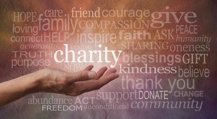 Warm Charity Word Wall