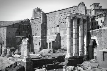Ancient Rome - black and white monochrome style