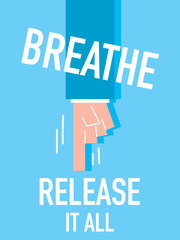 Word BREATHE vector illustration