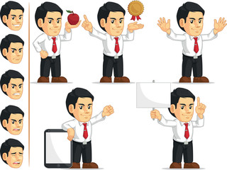 Office Worker Customizable Mascot 11