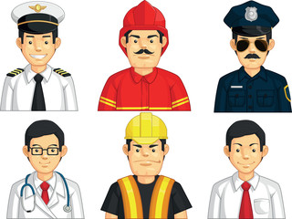 Profession - Construction Worker, Doctor, Fire Fighter
