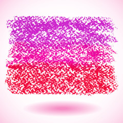 Red pastel crayon spot, isolated on white background