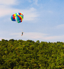 Tourist Attraction Parasailing Sky