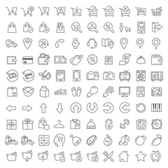One hundred icons set