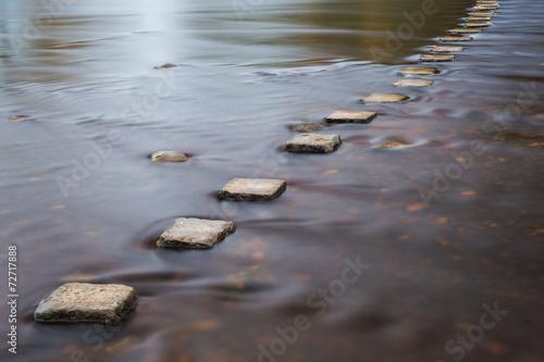 Fotobehang Rivier Stepping stones