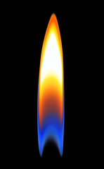 fire, flame on a black background